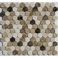 Мозаика Hexagon Mix Emperador