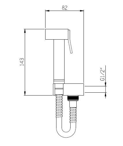 Гигиенический душ из латуни